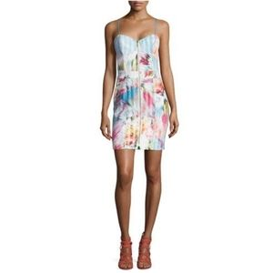 Nicole Miller Multicolored Spike Stretch Dress 6